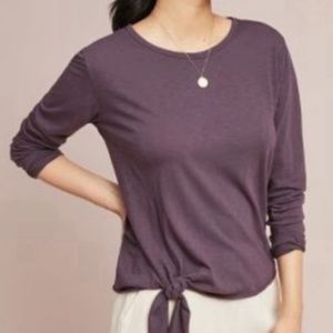 Anthro Sundry Knotted Pullover Long Sleeve Tee